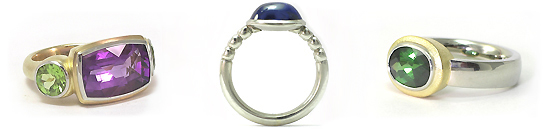 Gemstone Rings Gold or Platinum - Fine Jewelry by Martinus